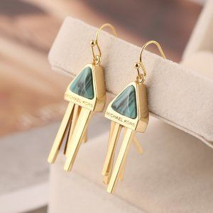 Michael Kors Geometric Tassel Gold-Plated Earrings